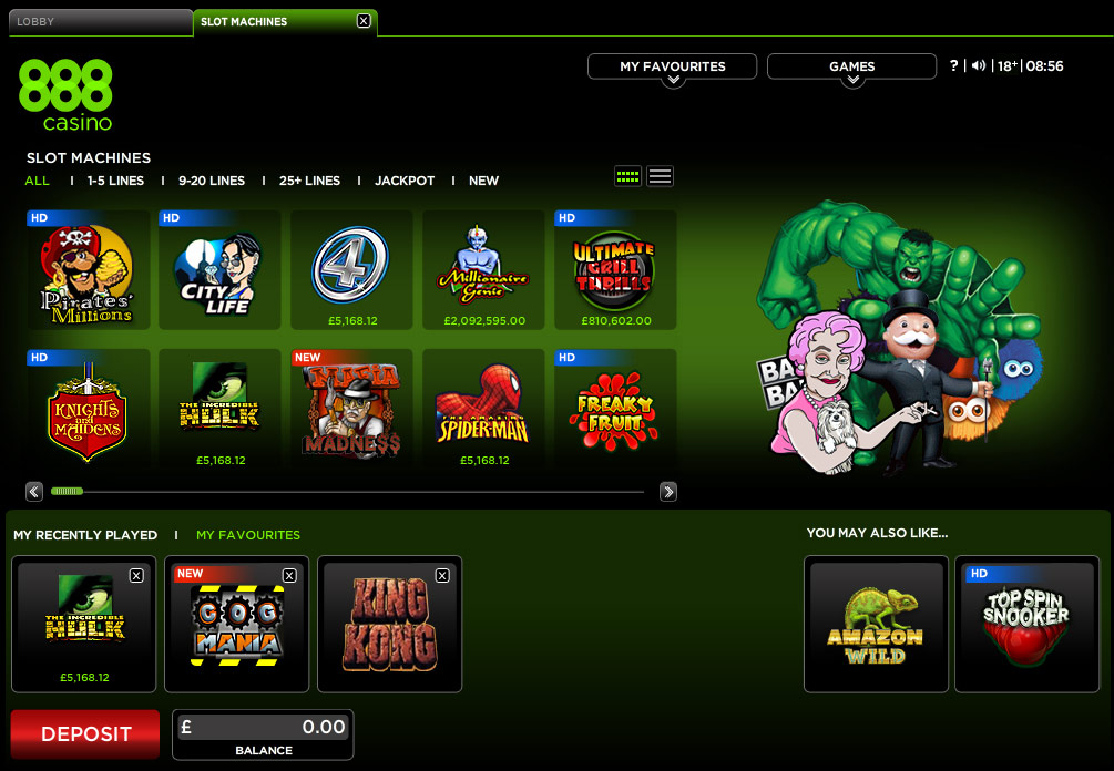 Casino slot games online free 888